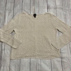 Eileen Fisher Oatmeal Beige Linen Sweater XL